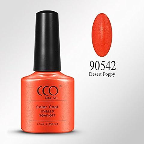 CCO Soak Off UV LED Color Gel Polish Nail Art Manicure 7.3ML Desert Poppy 90542