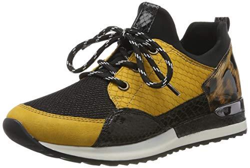 Remonte Damen R2503 Sneaker, Mehrfarbig (T6562/Schwarz/Schwarz/Schwarz/Natur 68), 38 EU