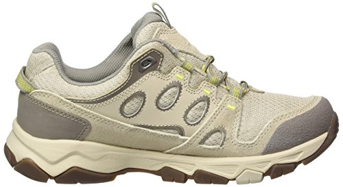 Jack Wolfskin Mtn Attack 5 Low W, Chaussures de Randonnée Basses Femme Beige (Flashing Green)