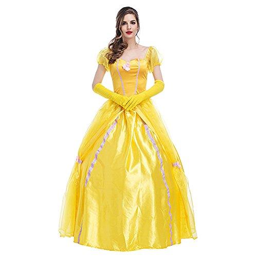 Kostüm Für Bell Erwachsene - Hallowmax Damen Royal Archaistisch Belle Kleider Kostüm
