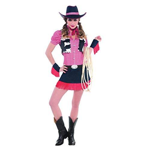 Emmas Wardrobe Cowgirl Kostüm für Frauen - UK Größe 8-14 (Women: 40-42, Cowgirl)