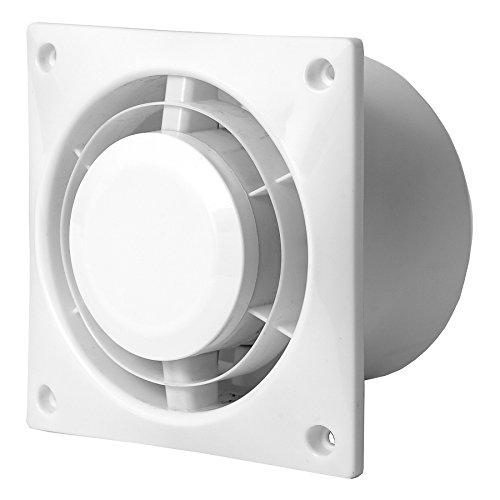 Bad-Lüfter Ventilator Leise 100 mm weiß - WC Küche L100