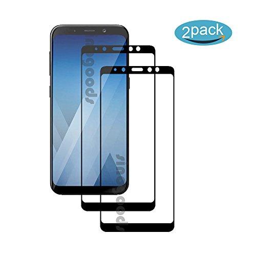 [2 Pack] Für Samsung Galaxy A7 2018 Panzerglas Schutzfolie (Schwarz), Displayschutzglas Panzerfolie für Samsung Galaxy A7 2018 Schutzglas Folie [Ultra-klar] [9H Härte] [Kristallklar] [Bubble Free]