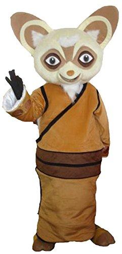 Happy Shop EU Shifu Master Waschbär Racoon von Kung Fu Panda Halloween Maskottchen Kostüm für Erwachsene Fancy Dress Outfit