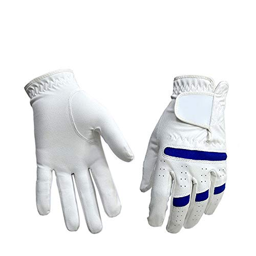 DHM-golf stuff Bequem Golfhandschuhe Herren Linke Hand Rechte Hand Nano Mikrofasertuch Sporthandschuhe Anti-Rutsch-Training dauerhaft (Farbe : Left Hand, Größe : 26)