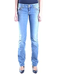Galliano Damen MCBI130046O Blau Baumwolle Jeans