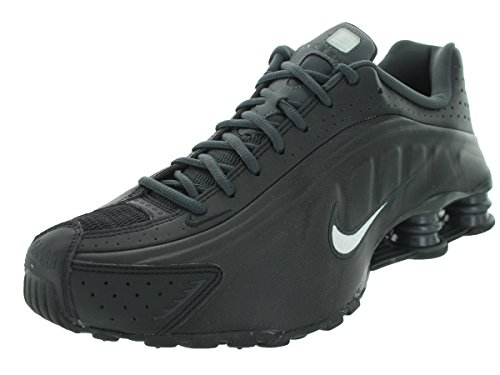 Nike Mens Shox R4 Synthetic Trainers Noir Blanc