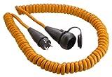 As Schwabe 70415 - Cable de alimentación en espiral para construcción (5 m, H07BQ-F 3G2,5, IP 44), color naranja