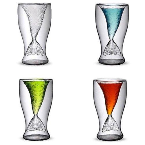 Bluelover Kreative Meerjungfrau Glas Tasse Bier Champagner Rot Wein Tasse (Bier Becher Gläser)