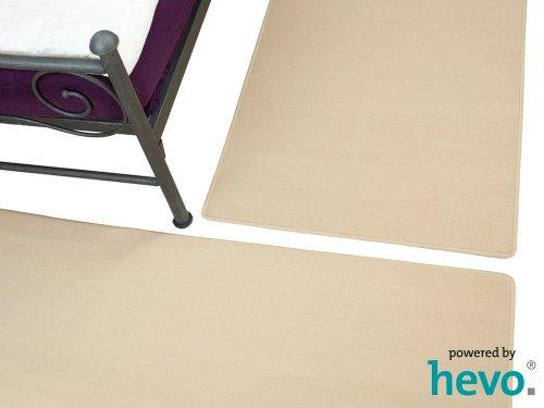 Amigo beige HEVO ® Bettumrandung 3 Teile 2x70x140 cm 1x70x340 cm