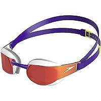 Speedo Fastskin Elite Mirror Goggle, Swimming Goggles Unisex-Adult, Violet/White/Gold, One Size