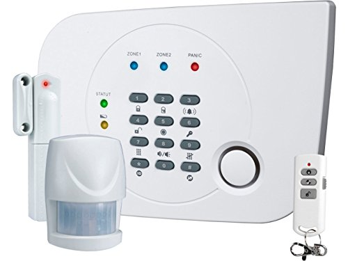 Smartwares HA700+ SW Système complet d'alarme sans fils évolutif avec transmetteur téléphonique intégré