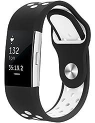 Hanlesi Armband für Fitbit Charge 2 , Silicagel Silikon Einstellbare Mode Ersatz Sport Band für Fitbit Charge 2 Smartwatch Fitness Bracelet