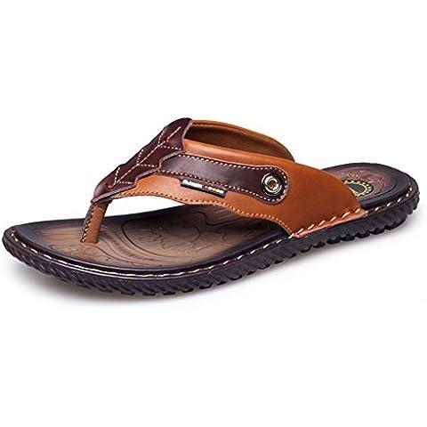 Infradito estate nuovo/Pantofole in pelle da uomo/sandali maschio/Scarpe da punta