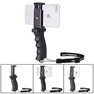 Fantaseal Smartphone Handheld Grip Holder, Cellphone Handle Grip Mount Selfie Stick Compatible for iPhone X/8+/8/7+/7/6S+/6S/ 6+/ 6/ 5S/ 5/ 5C/ 4S/ 4 / iPhone SE Nexus LG HTC Huawei ZTE Samsung etc