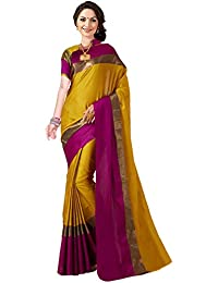 Art Decor Sarees Women's Cotton Silk Saree With Blouse Piece