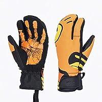 HuanXin-H6780 Guantes de esquí para Montar al Aire Libre cálidos Guantes de esquí a Prueba de Viento con Pantalla táctil fría Amarillo