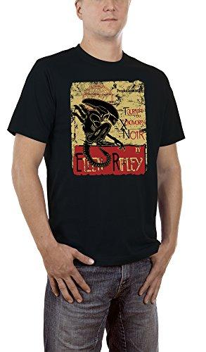 Touchlines Herren T-Shirt Ellen Ripley Aliens Schwarz (Black 13), (Ellen Kostüme Halloween)