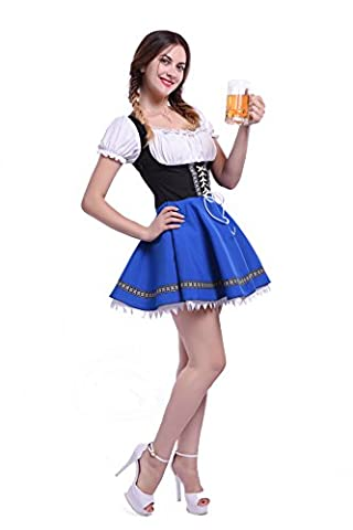 Damen Deutschland Oktoberfest Kleid Kellnerin Maid Kostüm Plus Size (Velvet Ballon-)