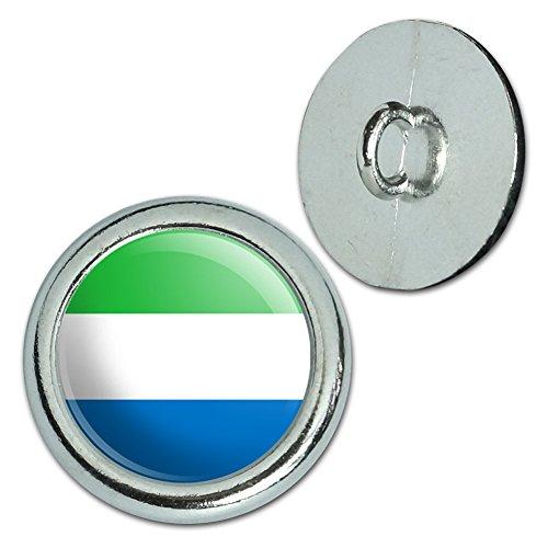 Metall Craft Nähen Neuheit Tasten–Set von 4–Land National Flagge o-s, metall, Sierra Leone National Country Flag (Sierra Druckknopf)