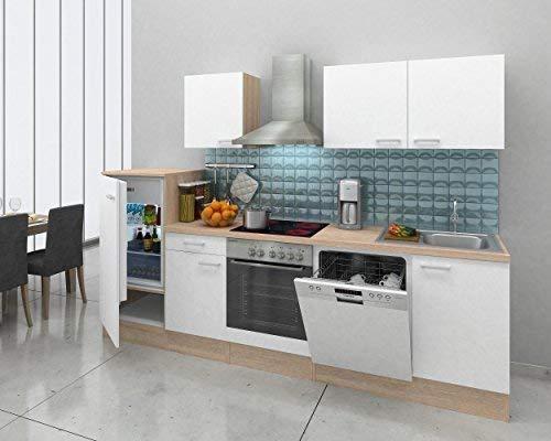 respekta Integrado Cocina ángulo Cocina Cuaderno Cocina 280cm Roble Natura Jason White