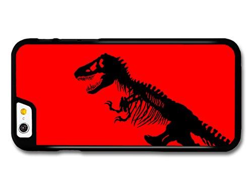Jurassic Park Black T-Rex Dinosaur on Red Bakground hülle für iPhone 6 6S