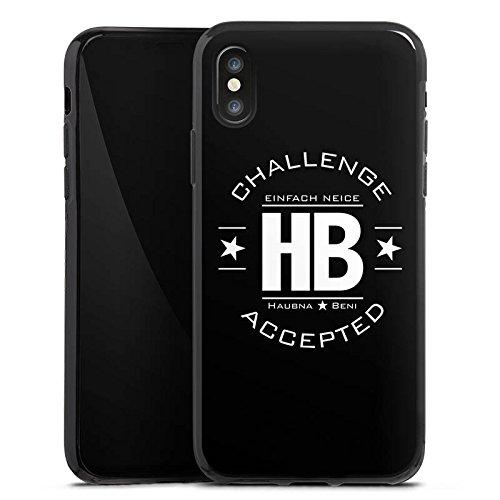 Apple iPhone X Silikon Hülle Case Schutzhülle TwoEpicBuddies Fanartikel Merchandise Youtuber Silikon Case schwarz