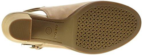 Geox  New Callie B,  Damen Sandalen , Beige - Beige (Light Taupe) - Größe: 40 EU -