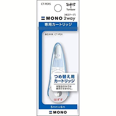 Tombow Mono 2way Correction Tape Eraser - Correction Tape Refill - 5 mm X 6 m