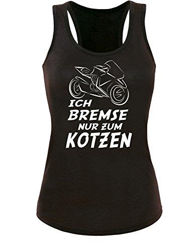 Ich Bremse nur zum Kotzen - Damen Tanktop Schwarz/Weiss