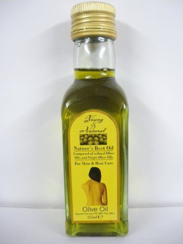 Young & Natural Olive Oil For Skin & Hair Care 125ml 100% pure olive by Young & Natural
