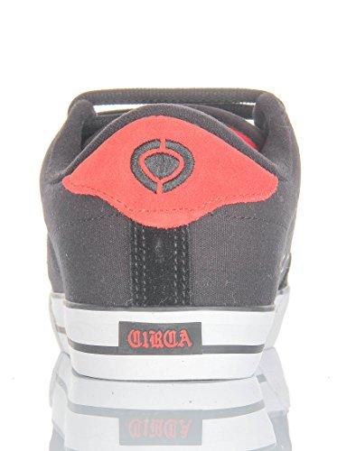 C1RCA Lopez 50, Baskets Basses Mixte Adulte Noir - Black/True Red