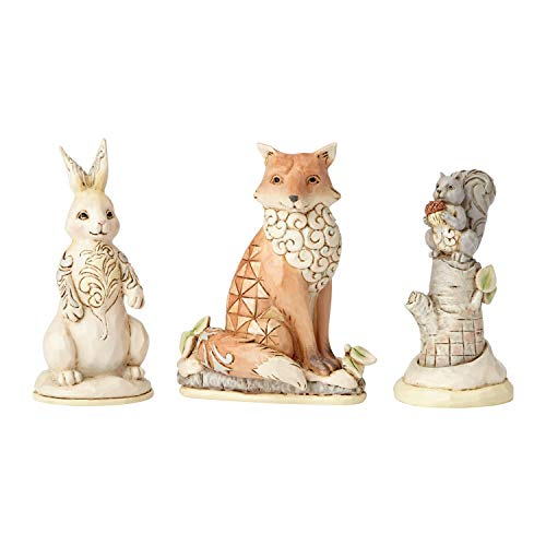 ENESCO Jim Shore White Woodland Animals Set of 3 Figurine 6001414 New -