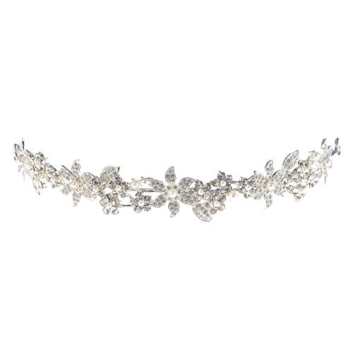 Topwedding Crystal Rhinestone Bridal Tiara Wedding Crown Headband Headpiece, women