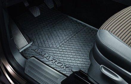 VW AMAROK Mats Original VW All-Weather Rubber Front Floor Mats 2h106150282V