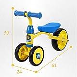 Laufräder Baby-Balance Fahrrad,Walker Scooter Yo Walker Helfen Bikefreie 1-3 Jahre alt-Gelb 24inch