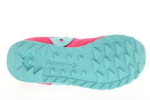 SAUCONY - Chaussure de sport fuchsia à lacets, en suède et synthétique, colorée, confortable et à la mode, fille, filles, femme, enfant Fuschia