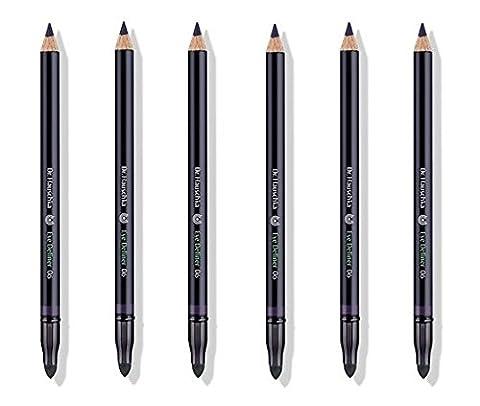 Dr.HAUSCHKA–1.05g, crayon yeux Eye Definer 06Plum 6boîtes de 100% naturel, texture souple, pigments minéraux, plantes officinali