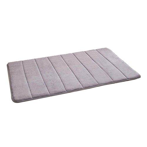 Badezimmerteppich Memory Foam Badeteppiche Saugfähige Badematte Rutschfester Badvorleger Badezimmer Teppich