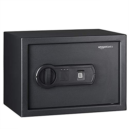 AmazonBasics - Caja fuerte con lector biométrico de huella dactilar - 10...