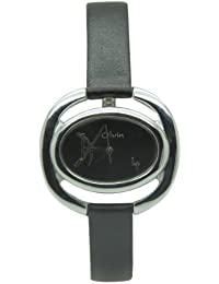 Olvin Analog Black Dial Women's Watch - 1629SL03