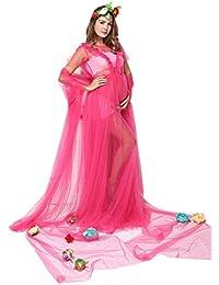 e500320c043e Vestito da maternità Donna Chiffon in Lungo Incinta Abiti Semplice  Glamorous da Sposa Abiti Eleganti Moda