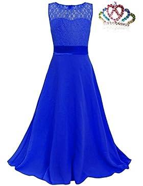 CARINACOCO Niñas Vestidos Princesa Tutu Niña de las Lace Niños Gasa Vestido Largo para Ceremonia Novia Boda Fiesta...