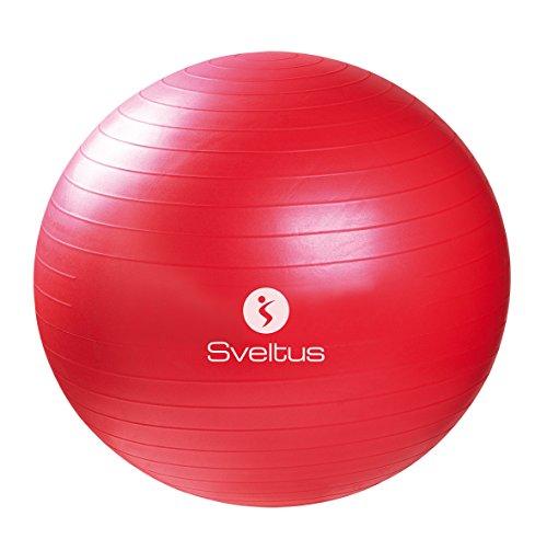 Sveltus-Fitball da ginnastica, rosso, 65 cm