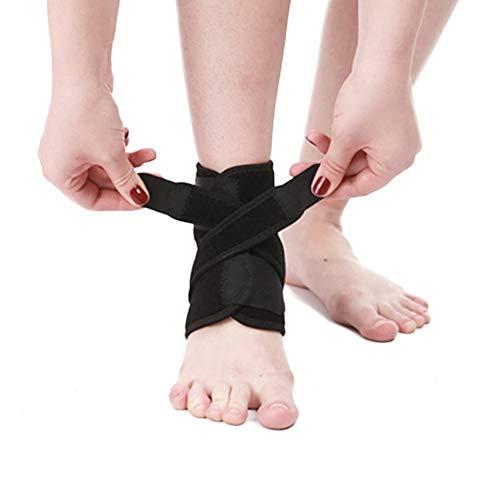 Yuccer Fußbandage Knöchel, Verstellbare Sprunggelenkbandage für Damen Herren Knöchelbandage Sprunggelenk für Fersensporn, Achillessehne, Bänderriss (schwarz)