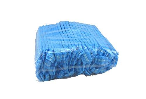 Blaue Einweg-Gap, Haarnetz Gap, 100Stück, elastisch frei Größe, für Kosmetik, Beauty, Küche, kochen, Home Industries, Krankenhaus