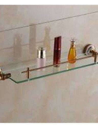 MEICHEN-Vintage in vetro e porcellana Mensola per bagno , neoclassico Bronzo Antico montato a (Bronzo Bagno Piastrelle)