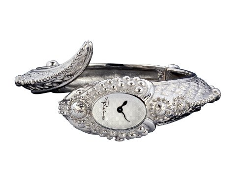 Roberto Cavalli Ladies Eva Snake Analogue Watch R7253126025 with Silver Dial and Stainless Steel Case