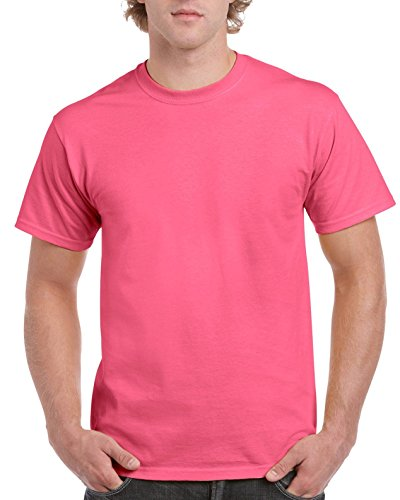 Ultra Cotton Classic Fit Adult T-Shirt - Farbe: Safety Pink - Größe: XL (Baseball Tee Pink)