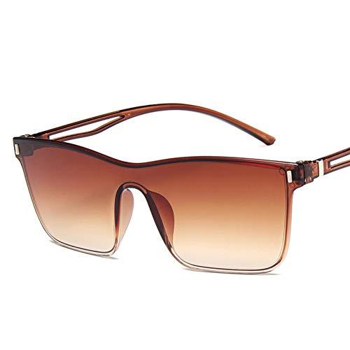Yuanz Übergroße Sonnenbrille für Frauen Retro Marke Sonnenbrille Damen Bunte Gradienten Sonnenbrille Mode Frames Weiblich,C2